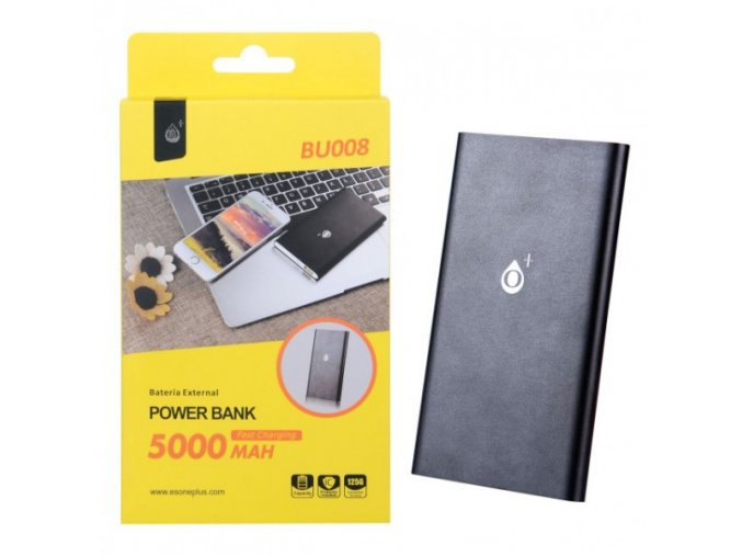 Power Bank PLUS, 5000mAh, (BU008), black