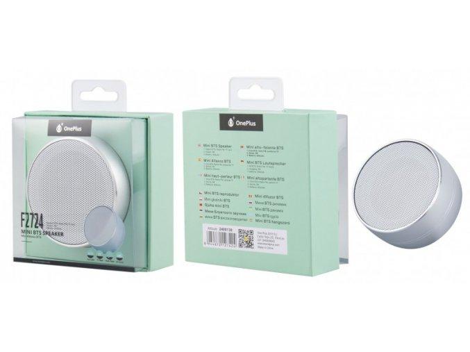 Mini speaker PLUS F2724 s FM rádiem, silver