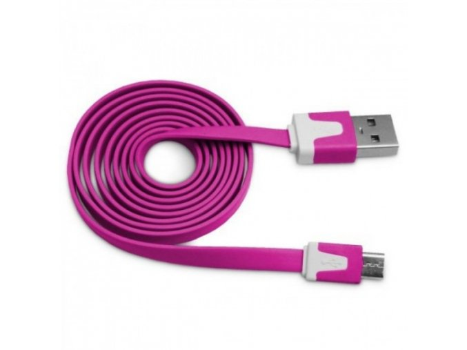 Datový kabel NOODLE microUSB nabíjecí raspberry