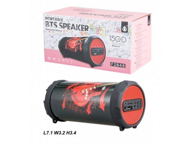 Bluetooth Portable Speaker PLUS Mini F2848, Red Guitar