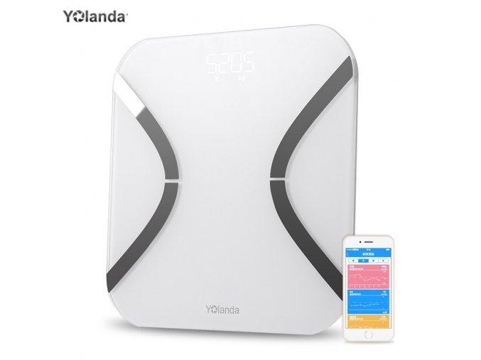 Body Index 32 White Yolanda mini Smart Scales Household Digital Weight Mi Scales Electronic FLOOR SCALES