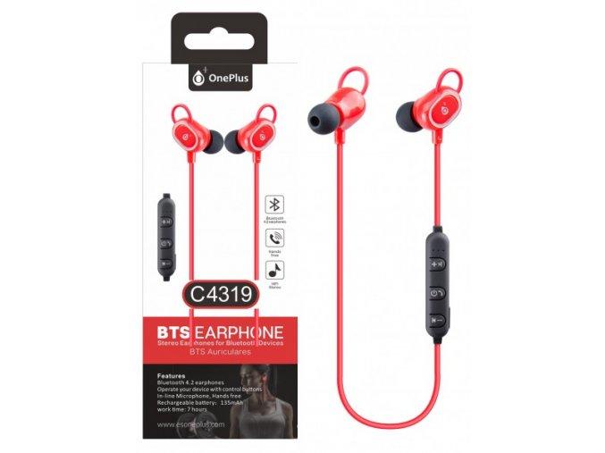 Aligator Sluchátka C4319 sport červená  Bluetooth sluchátka