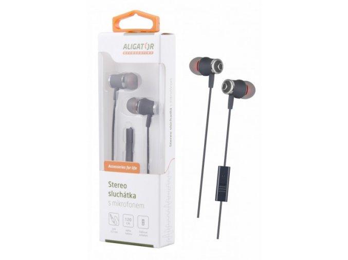 ALIGATOR HF/sluchátka AE02 Bass Dynamic, šedá