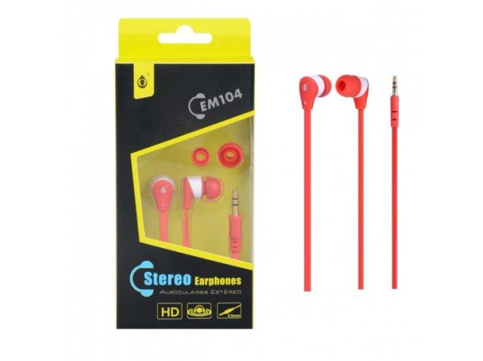 Sluchátka do uší PLUS, (EM104), červeno-bílá