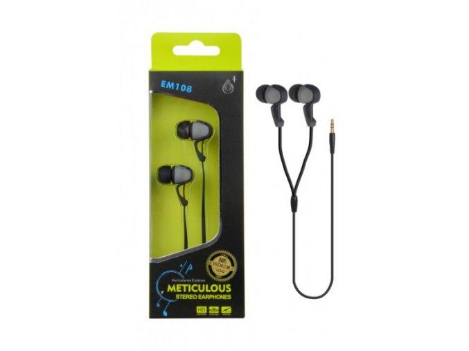 Sluchátka do uší stereo PLUS, (EM108), šedá