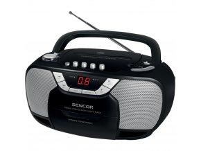 Sencor SPT 207  - přenosný radiomagnetofon s CD přehrávačem