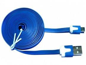 Datový kabel NOODLE microUSB nabíjecí blue