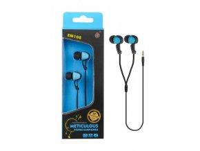 Sluchátka do uší stereo PLUS, (EM108), modrá