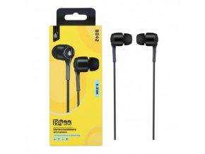 Sluchátka do uší PLUS, s mikrofonem, (N8042), černá
