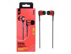 Sluchátka do uší PLUS, s mikrofonem, (N8042), červená