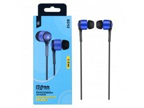Sluchátka do uší PLUS, s mikrofonem, (N8042), modrá