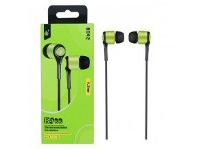 Sluchátka do uší PLUS, s mikrofonem, (N8042), zelená