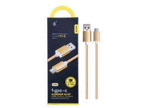 Datový a nabíjecí kabel PLUS, USB-C, (AU406), zlatý