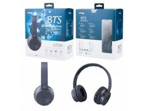 Bezdrátová sluchátka PLUS CT715 s mikrofonem, FM rádiem a čtečkou pro microSD kartu