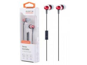 ALIGATOR HF/sluchátka AE01 High Standard, červená