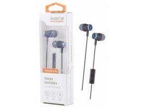 ALIGATOR HF/sluchátka AE02 Bass Dynamic, modrá
