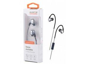 ALIGATOR sluchátka AE03 Sport Dynamic, šedá