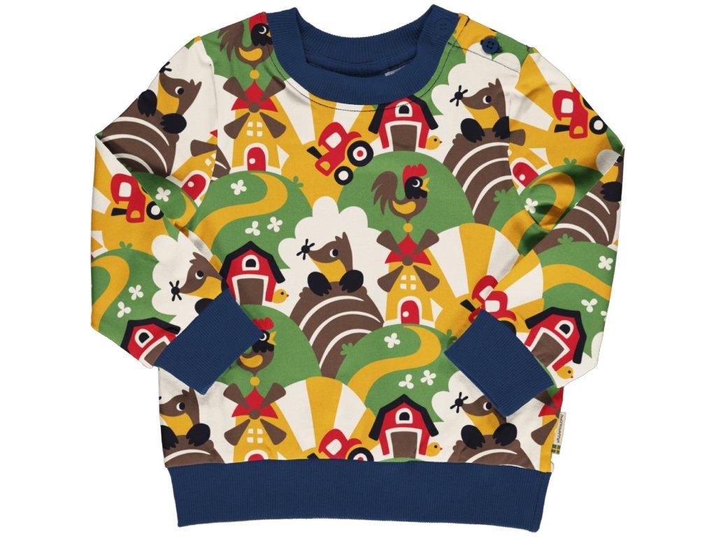 Sweatshirt Button FARM