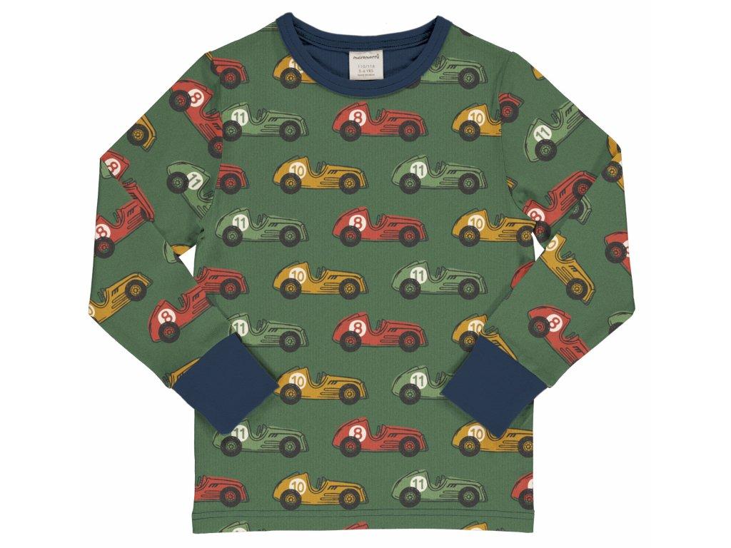 Dětské triko s dlouhým rukávem Závodní auta