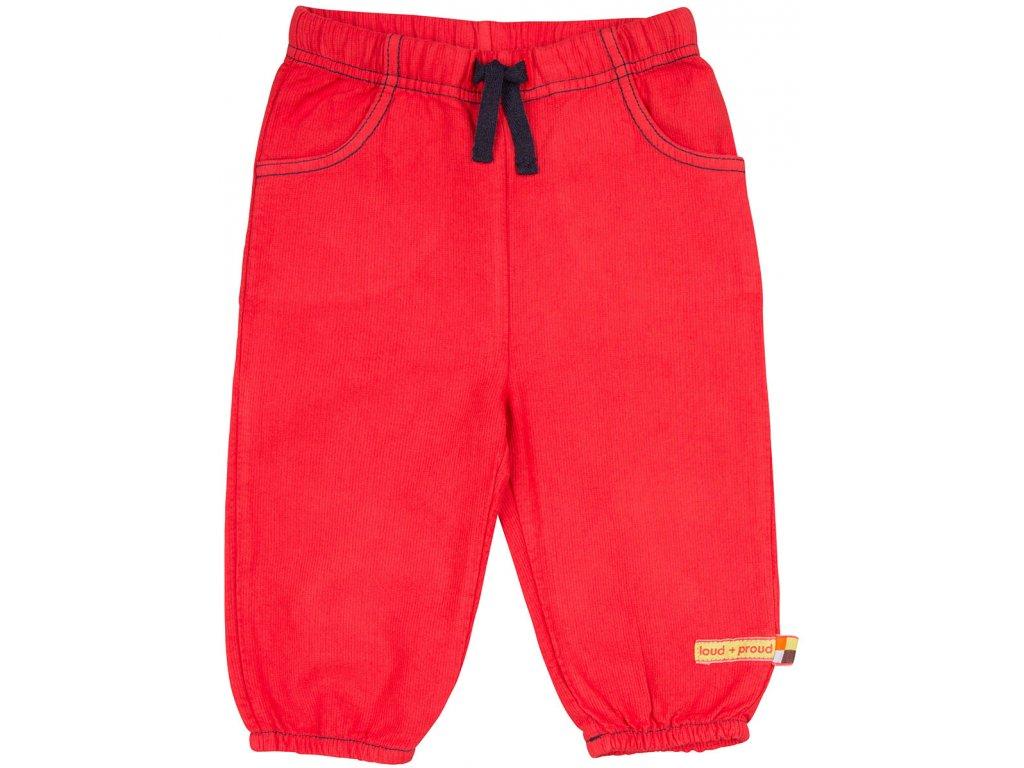 Dětské kalhoty Červená