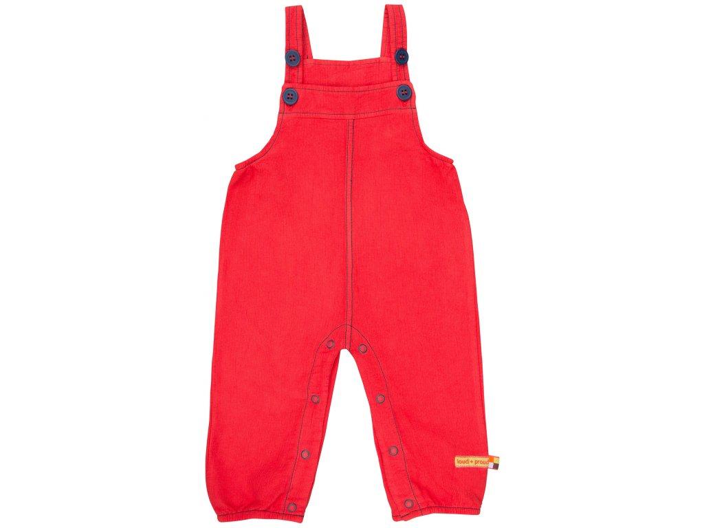 Dětské laclové kalhoty Červená