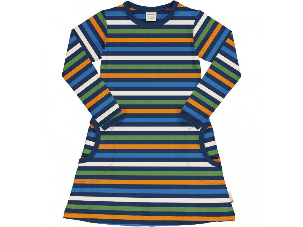 Dress LS Stripe STRIPE NAVY