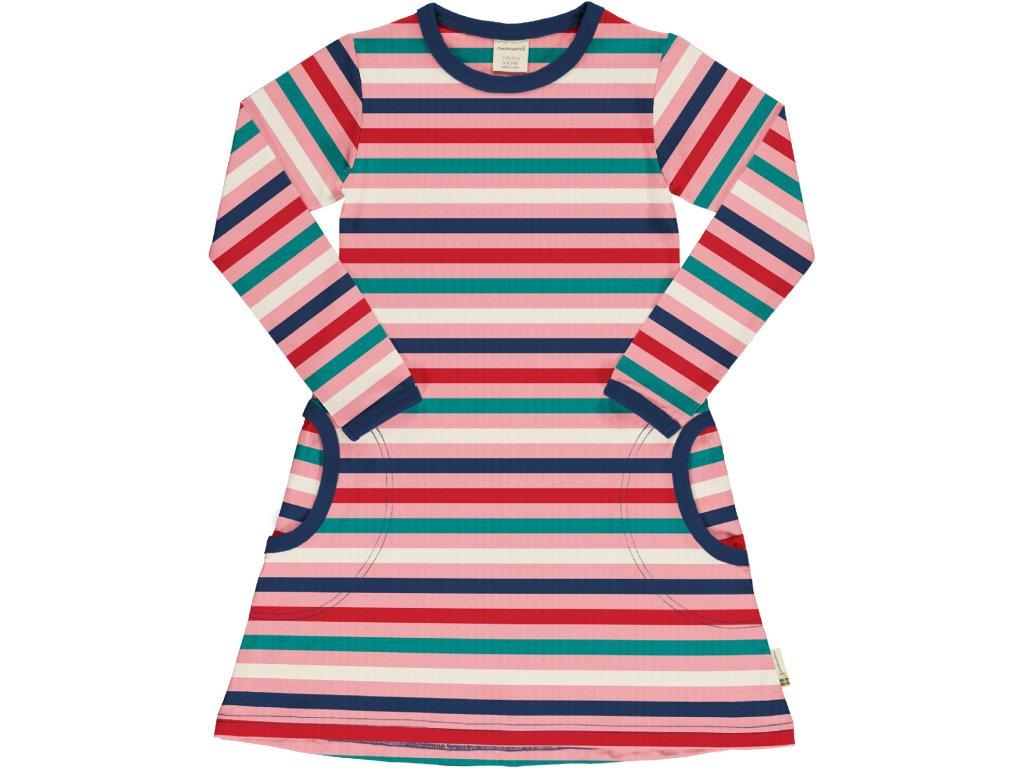 Dress LS Stripe STRIPE BLOSSOM