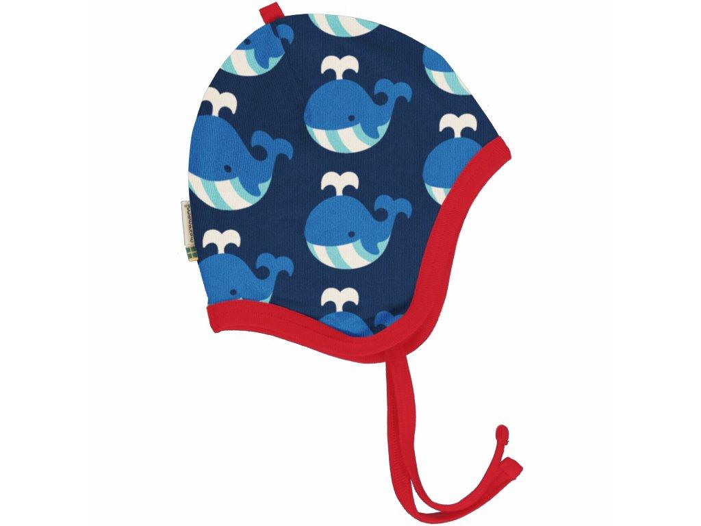 Kojenecká čepice zimní Velryba