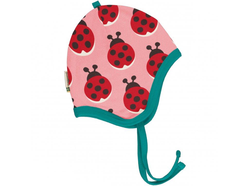 Hat Helmet Velour LADYBUG