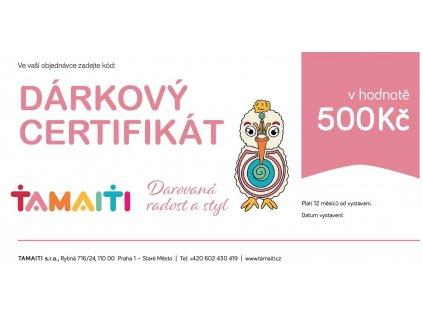 Dárkový certifikát 500Kč