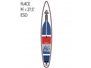 model 2019Nafukovací iSUP paddleboard SUP plovák TAMBO 14x275 RACE