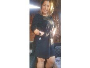 šaty k vodě Tambik černé s kapsou