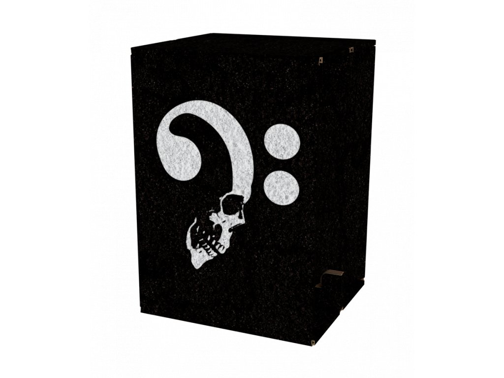 Carton Cajon Bass Skull 1