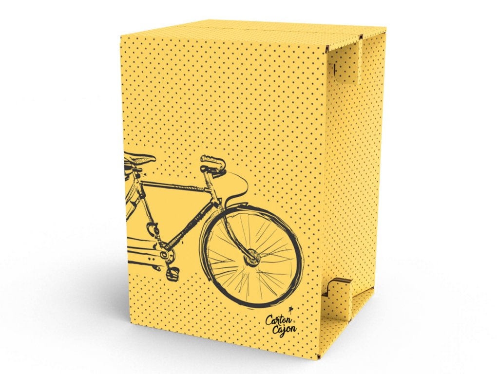 Carton Cajon Double Bike Yellow 1