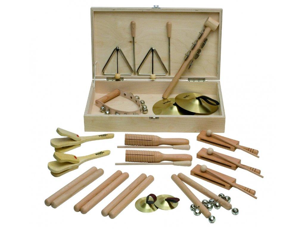 Percussion set 4 v dřevěném boxu - GOLDON 30140