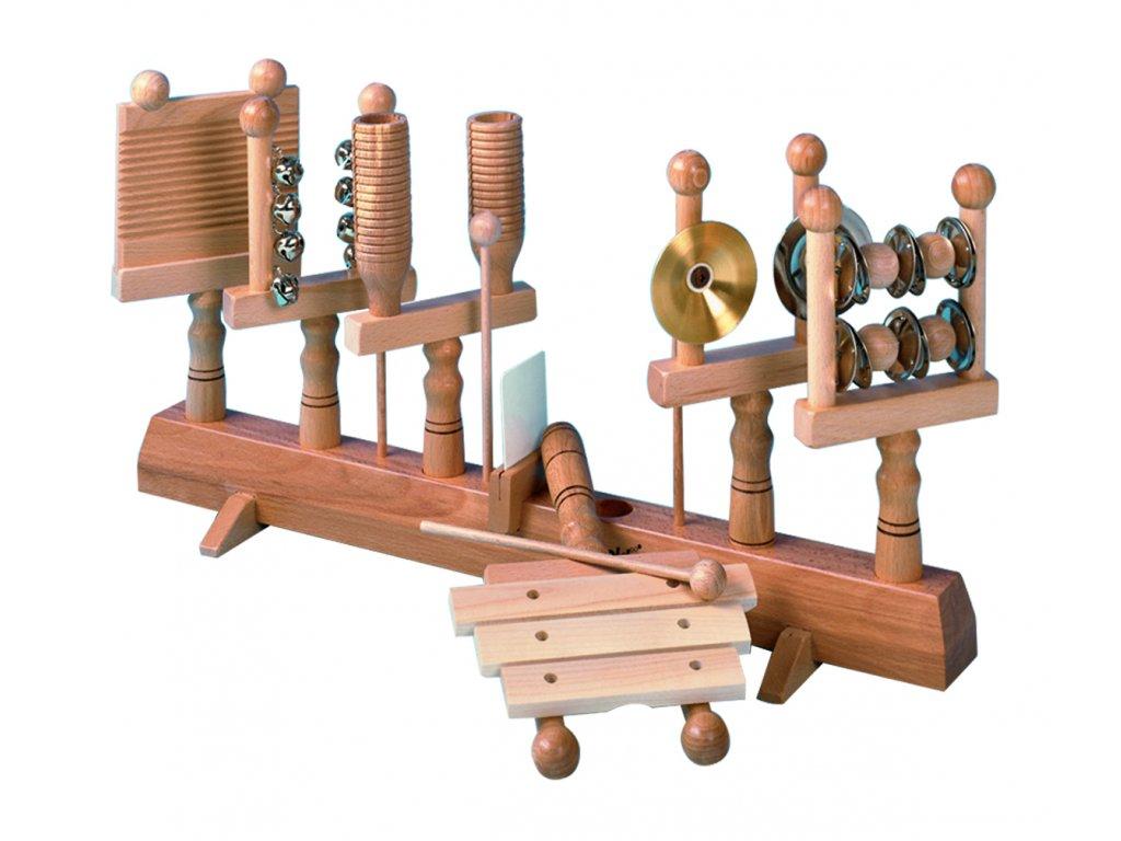 Set perkusních nástrojů na dřevěné liště  - GOLDON 30190