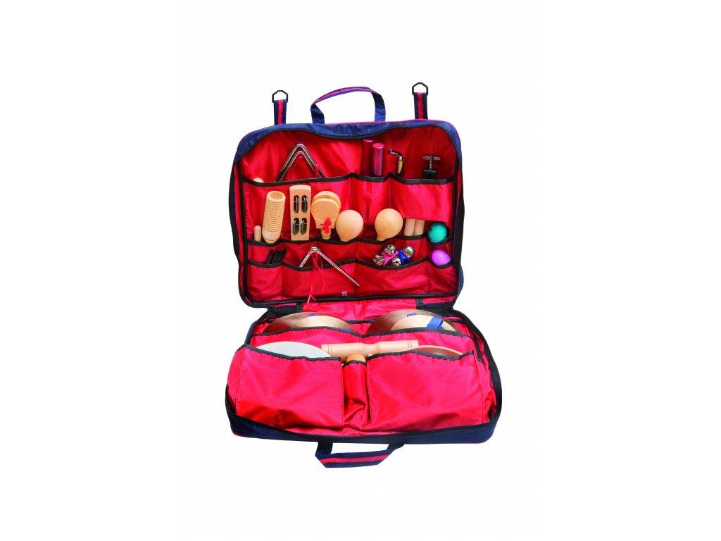 Set perkusních nástrojů v barevné tašce  - import, GOLDON 30200