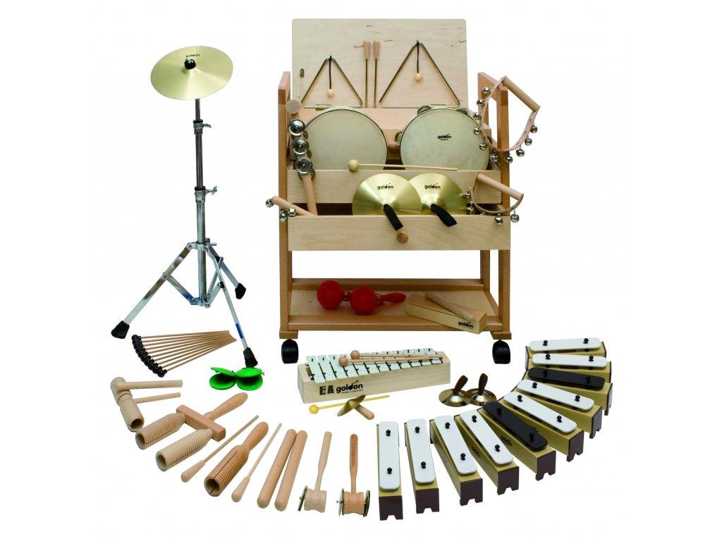 Malý vozík s rytmicko-melodickými nástroji 1 - GOLDON 30510