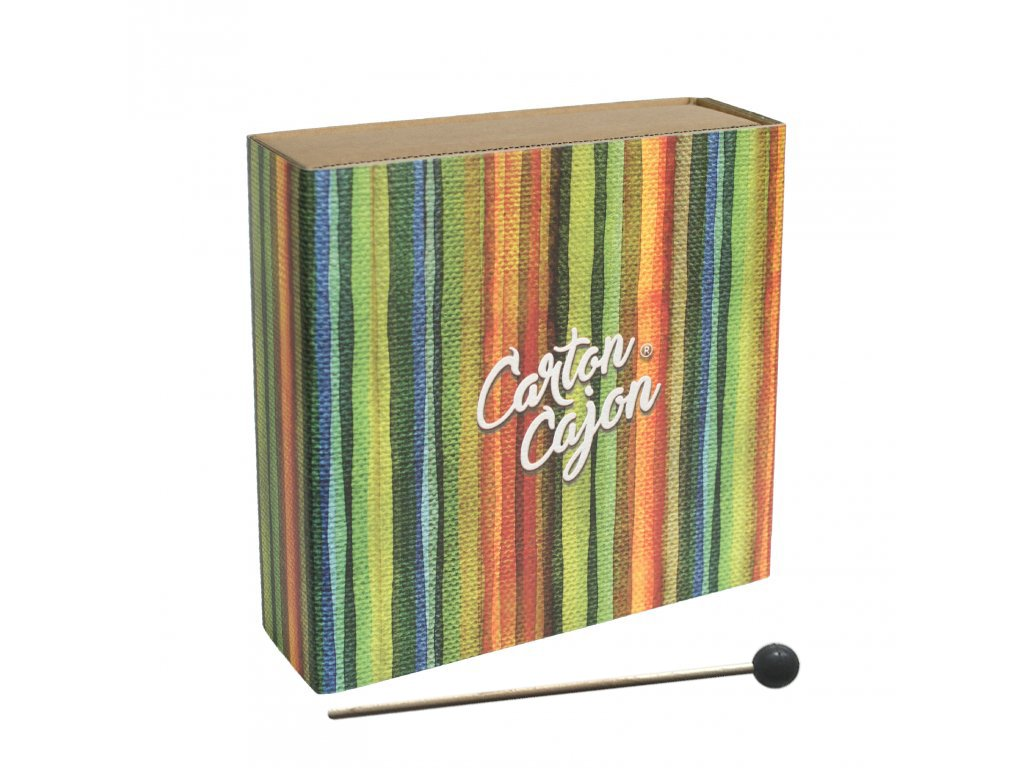 Carton Cajon Ruční Happy Stripes