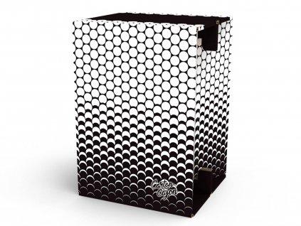 Carton Cajon Black White Dots 1