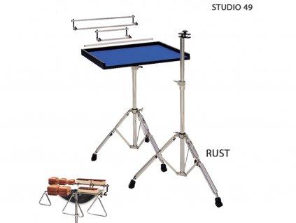 RUST univerzální stojan pro koncertní triangly woodblocks a kravske zvonce studio 49