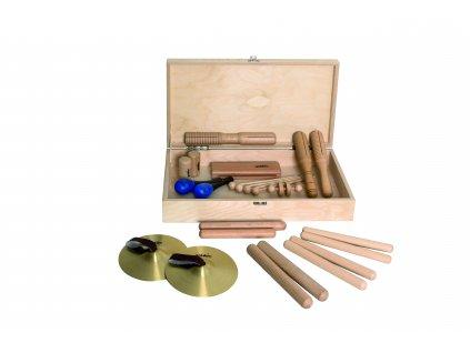 Percussion set 2 v dřevěném boxu - GOLDON 30120