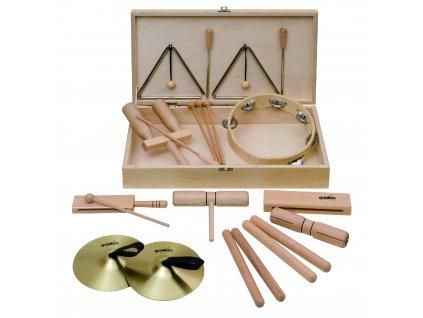 Percussion set 5 v dřevěném boxu - GOLDON 30150