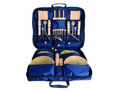Velká sada perkusních nástrojů v barevné tašce 1 - GOLDON 30310