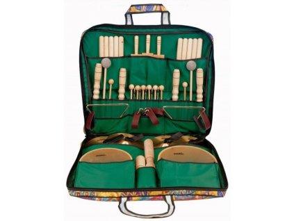 Velká sada perkusních nástrojů v barevné tašce 2 - GOLDON 3032010