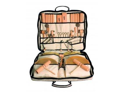 Velká sada perkusních nástrojů ve lněné tašce 2 - GOLDON 30420