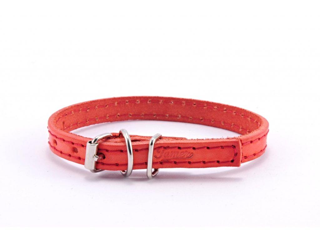 Kožený obojek STUBBY mini | červený