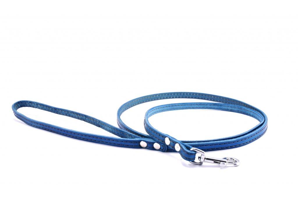 Kožené vodítko STUBBY KLASIK   modré
