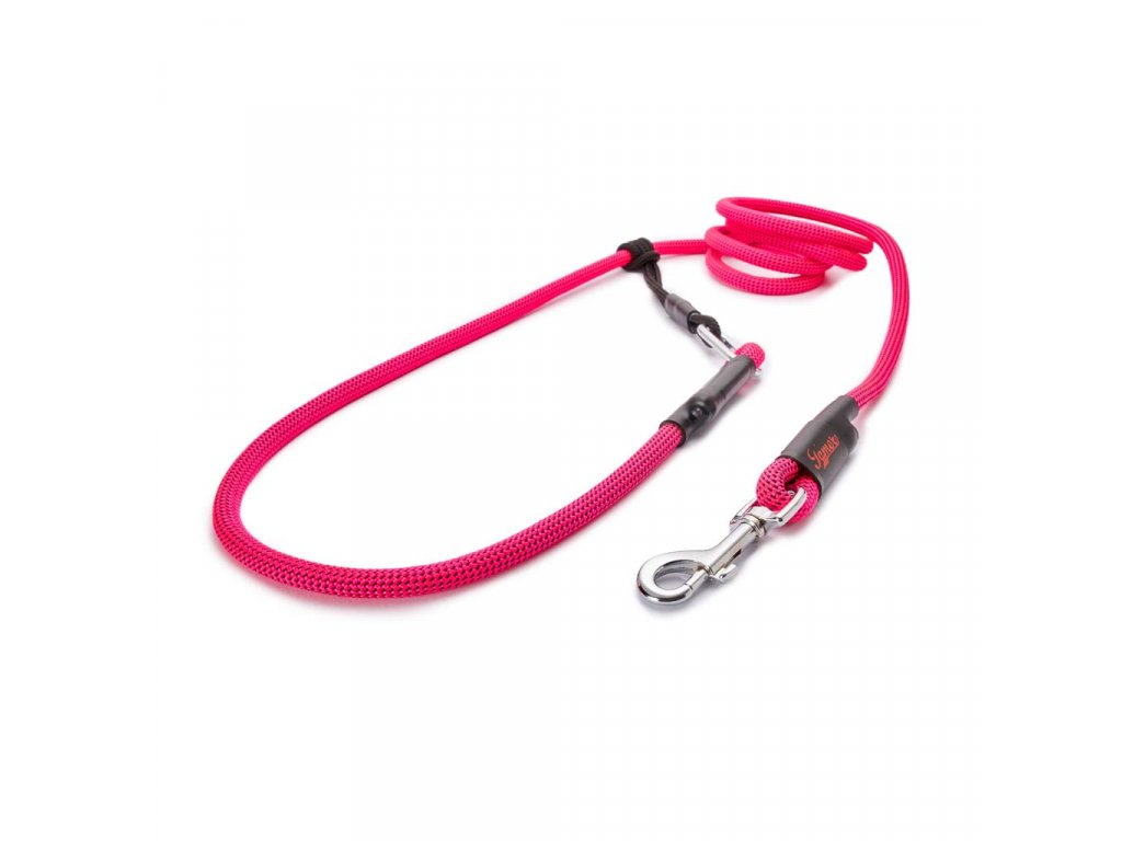 Lanové vodítko EASY LONG střední pes  růžové neon