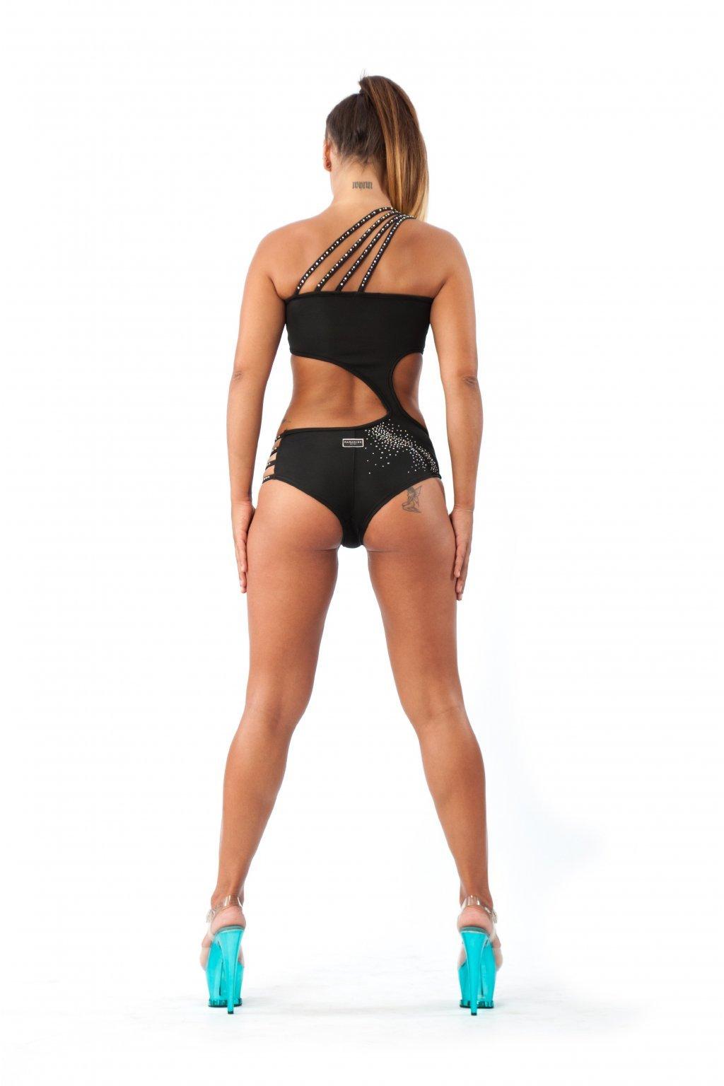 Kostýmek Maro černý s aplikací